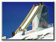 Harry Egger going down the Red Bull ramp at Vars, France