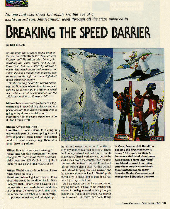 Snow Country article by Bill Miller