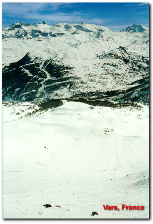 Vars, France - viewpoint from top of track